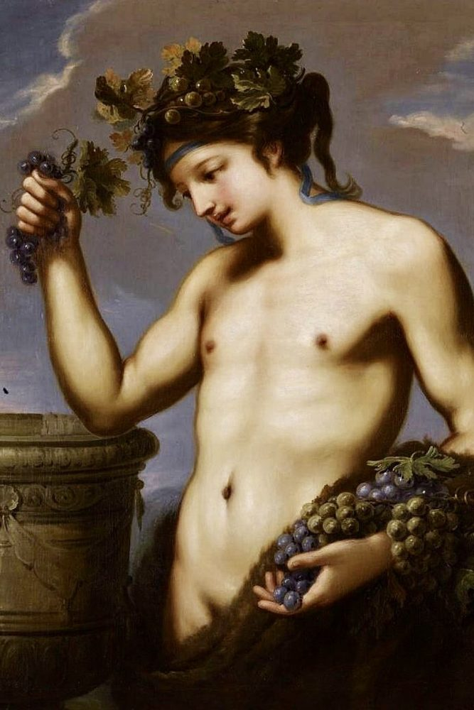 Bacchus by Charles Lucy (English, 1692 - 1767). Courtesy of Wikipedia.