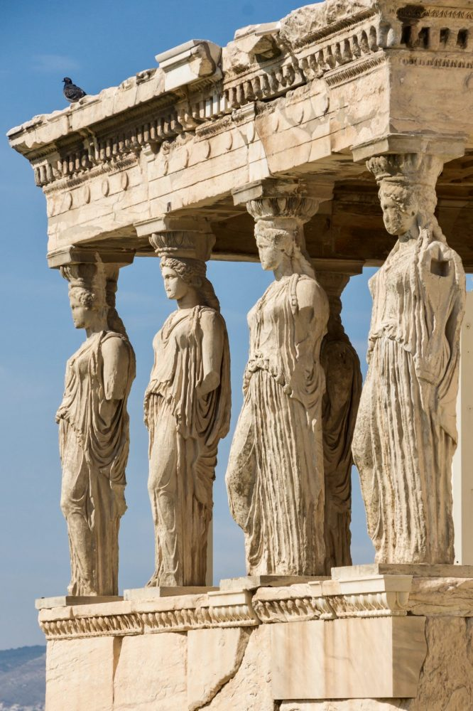 Four Caryatids at Erechtheum Acropolis, Athens: Wikimedia Commons