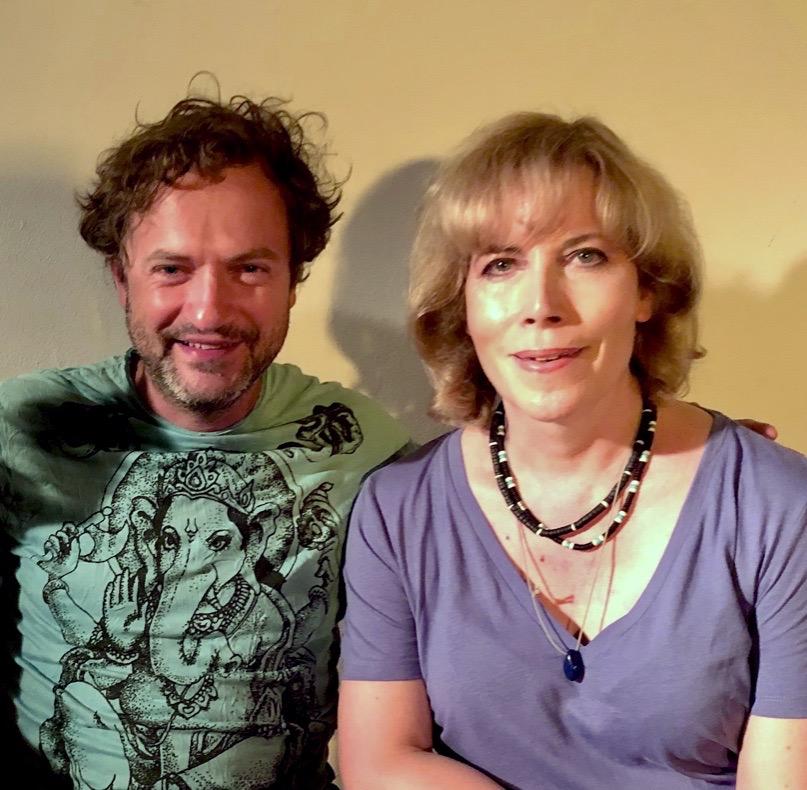 Valeska Réon with director/actor/screen writer Nicolai Tegeler.