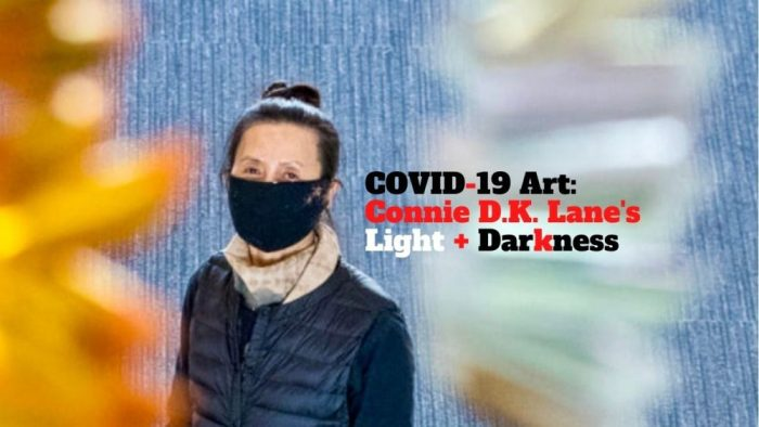 Artist Connie D.K. Lane honors lives lost to COVID-19 with her installation for Glendale Central Public Library.