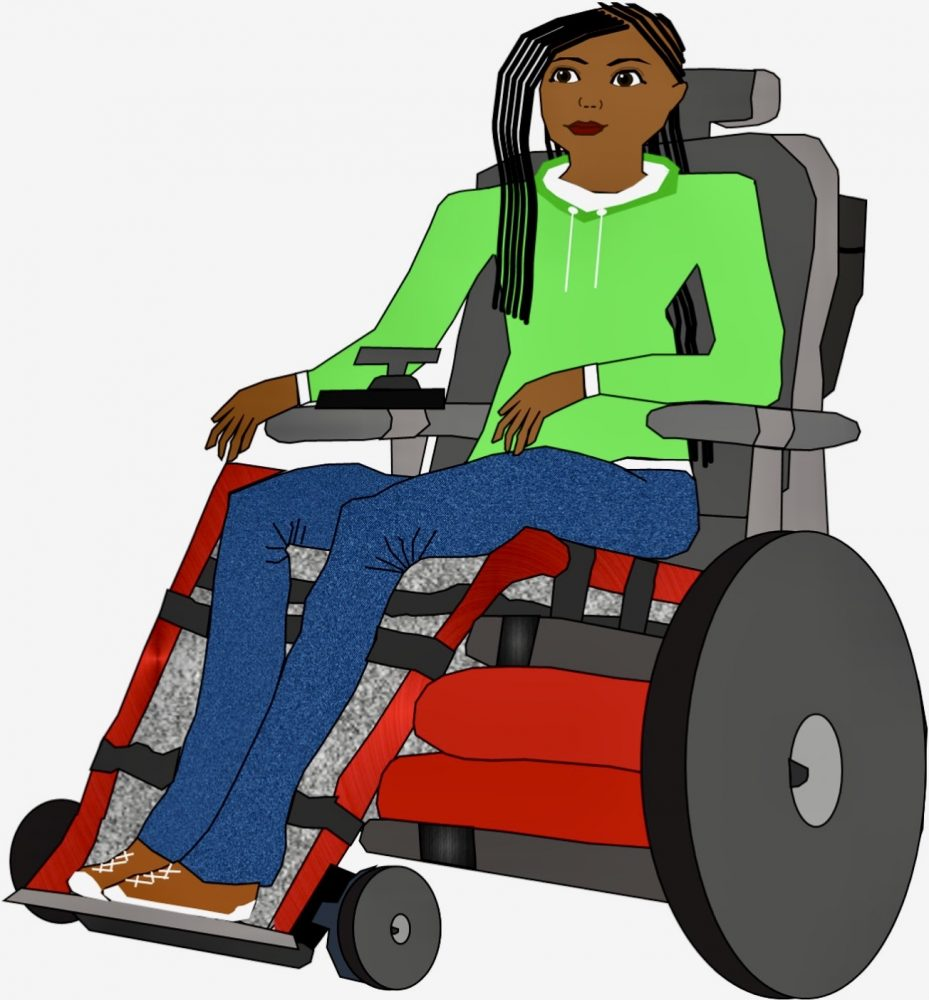 A disabled character created by The Wheelchair Teen for a comic.