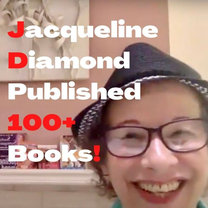 I'd be smiling this happily too if I'd published as many books as Jacqueline Diamond has!