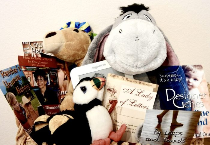 A few of Jacqueline's books and office staff members.