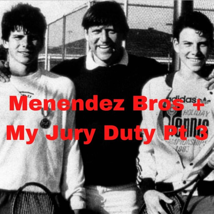 Photo of Menendez brothers with their father, Jose, whom they murdered.